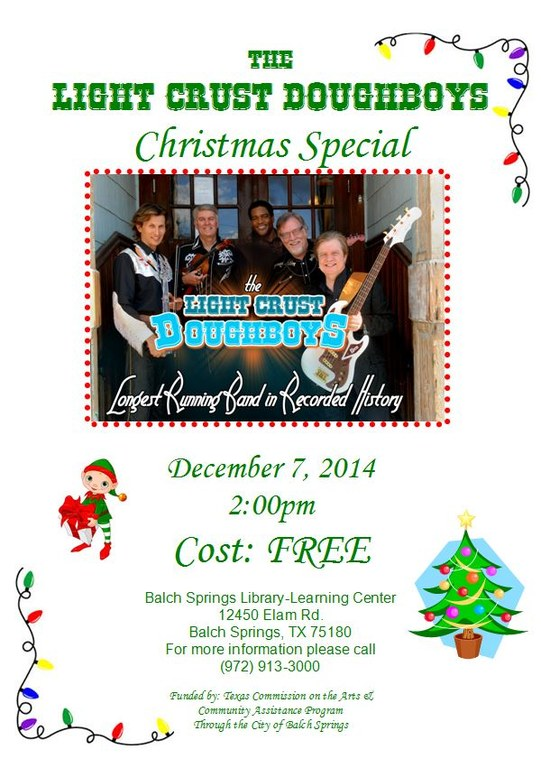 LCD christmas flyer — Balch Springs Library-Learning Center